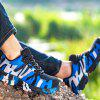 Flying Woven Camouflage Steel Head Tamper-Proof Breathable Protective Shoes - BLUE