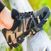 Flying Woven Camouflage Steel Head Tamper-Proof Breathable Protective Shoes - ARMY GREEN