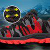 Flying Woven Camouflage Steel Head Tamper-Proof Breathable Protective Shoes - RED