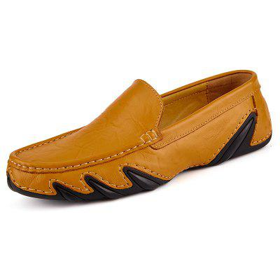 Genuine Leather Loafers Casual Hollow Casual Shoes for Men