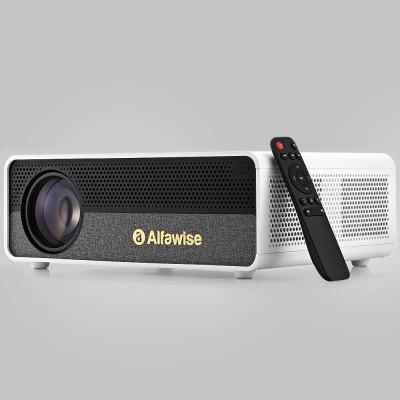 Refurbished Alfawise Q9 BD1080P HD 4K Smart Home Projector met 40-300 inch Mirroring Screen High Brightness