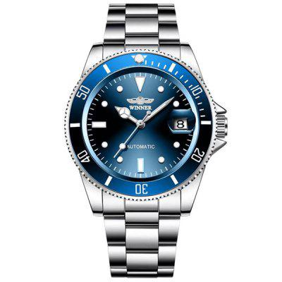 WINNER Men Fashion Date Display Automatic Mechanical Watch Durable Stainless Steel