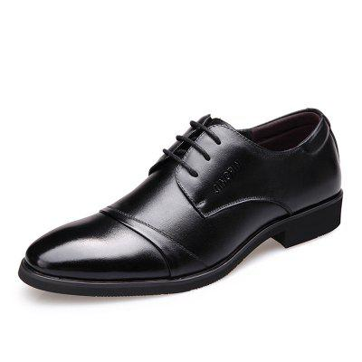 Pointed Toe Lace Mens Business Leather Shoes British Casual