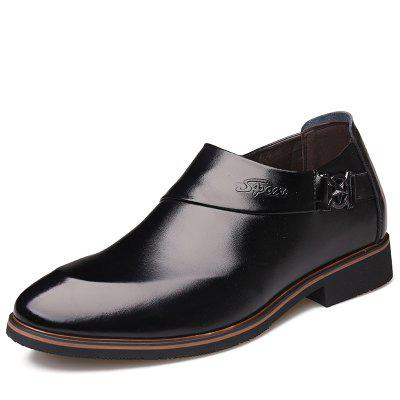 Invisible Increase 6cm Mens Business Pointed Leather Shoes