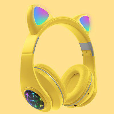 M2 Cat Headset with Microphone Wireless Bluetooth Music Stereo Headphone Cute Breathing Light Sports Earphone наушники xiaomi millet sports bluetooth headset youth edition black