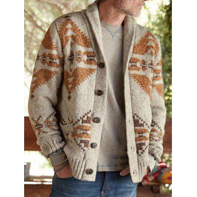SY0052 Fashion Large Size Long-sleeved Mens Jacquard Sweater