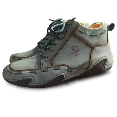 Mens Casual Shoes Autumn and Winter Male Large Size High-top Men