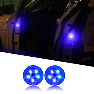 Wireless Magnetic Car Opening Door Warning Light LED Strobe Flashing Anti Rear-end Collision Indicator Lights Signal Lamp 2PCS