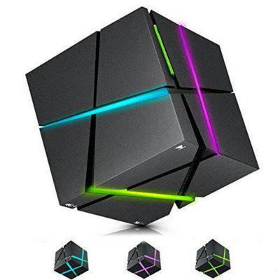 Water Cube Bluetooth Speaker Colorful Night Light Mobile Phone Sound Box Portable Mini Wireless High-frequency Birthday Gift