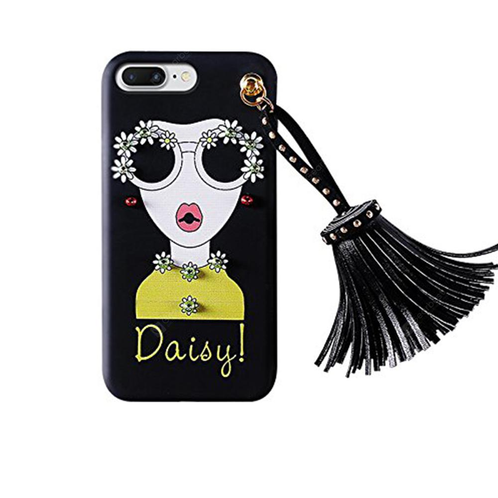 Daisy Tassel Girl Soft TPU Case for iPhone 6/6S