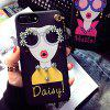 Daisy Tassel Girl Soft TPU Case para iPhone 6 / 6S - PRETO