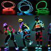 YouOkLight 3W 5V 3M Flexible Red / Green / Blue Neon EL Wire Light Dance Party Decor Light  Batteries not Included 4pcs - RED