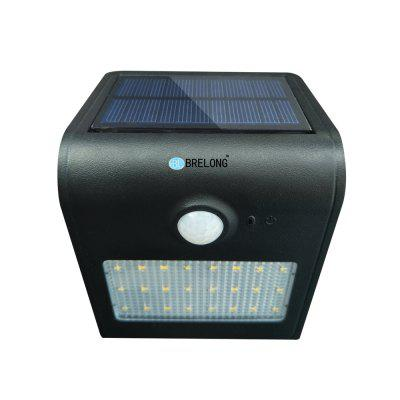 BRELONG Solar PIR Light 24 x SMD 2835 7W 500Lm Cordless Waterproof Human Body Induction