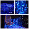KWB LED Window Curtain Icicle Lights 300 LED String Fairy Lights 118.11 x 118.11 Inch 8 Modes White Christmas / Thanksgiving / Wedding / Party Backdrops - BLUE