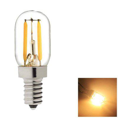 SUPli 2W Edison Bulb Vintage Tubular Night Light Bulb E14 Base LED Filament Candelabra Bulbs Ultra Warm White 2700K 20 Watt Equivalent