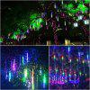 KWB 50CM Falling Rain Christmas Lights Waterproof LED Meteor Shower Lights with 8 Tube Icicle Snow Fall String Cascading Lights for  Holiday - RGB COLOR