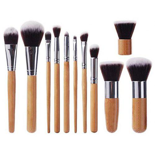 TODO 11pcs Vegan Makeup Brush With Bamboo Handle Soft Synthetic Hair