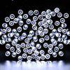 KWB LED Solar String Lights 12M 100balls Christmas New Year Lamps White / Warm White / Blue / Red /  RGB - WHITE