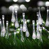 String 5M 20 LED Water Drop Light Lâmpada impermeável Garden Landscape Fairy Solar Decorativa - BRANCO