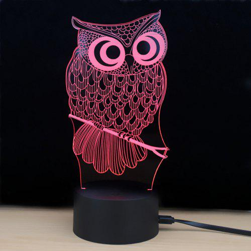 Color Shining Atmosphere Led Night LED Light Td182 Changing 3D Touch Lamp 7 Owl Lamp AR34L5j