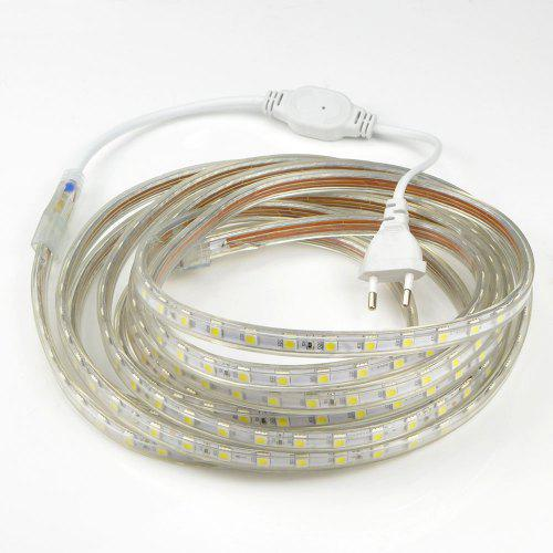 1pcs 20m 220v 5050 Led 90w Flexible Tape Rope Strip Light Xmas Outdoor Waterproof Garden Outdoor Lighting Christmas Band Eu Plug
