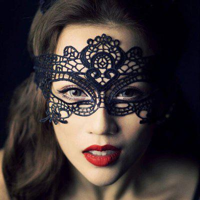 Yeduo Black Sexy Lady Lace Mask for Masquerade Halloween Party Fancy Dress Costume