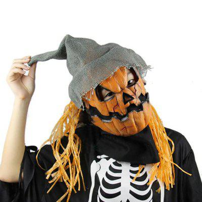 Yeduo Maska Halloween Pumpkin Scarecrow Creepy Latex Realistyczne Crazy Rubber Super Creepy Party Halloween Costume Mask