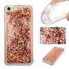 Copper Sand Silver Diamond All Soft Tpu Quicksand Phone Case for Iphone 5S Se - COLORMIX