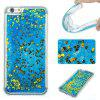 Blue Sand Gold Heart All Soft Tpu Quicksand Phone Case for Iphone 6S Plus 6 Plus - COLORMIX