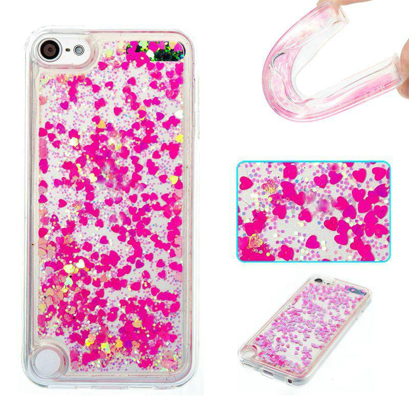 Full Pink Little Love All Soft Tpu Quicksand Phone Case for Ipod Touch5/6