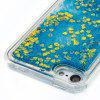 Blue Sand Gold Heart All Soft Tpu Quicksand Phone Case for Ipod Touch5/6 - COLORMIX