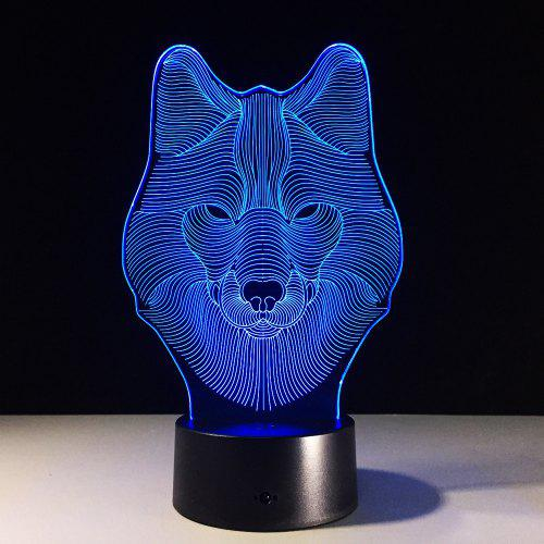 Yeduo Animal Wolf Decor Led Nightlights Colorful Design Table Lamp Illusion Lights