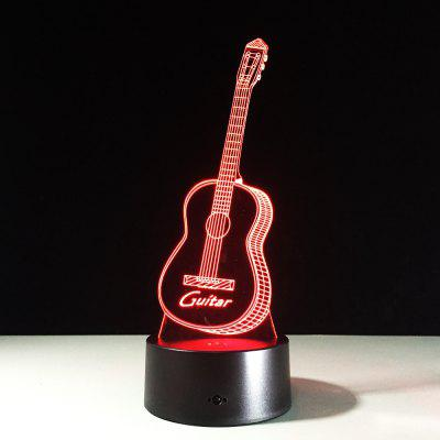 Yeduo New Action Figure 7 Colors Guitar 3D Visual Led Night Lights As Bedroom Table Lamp Best Gifts for Kids Friends Acrylic