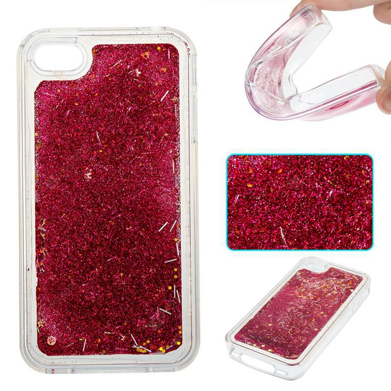Rose Grass All Soft Tpu Quicksand Phone Case for Iphone 4 4S