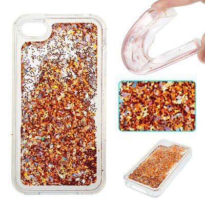 Copper Sand Silver Diamond All Soft Tpu Quicksand Phone Case for Iphone 4 4S