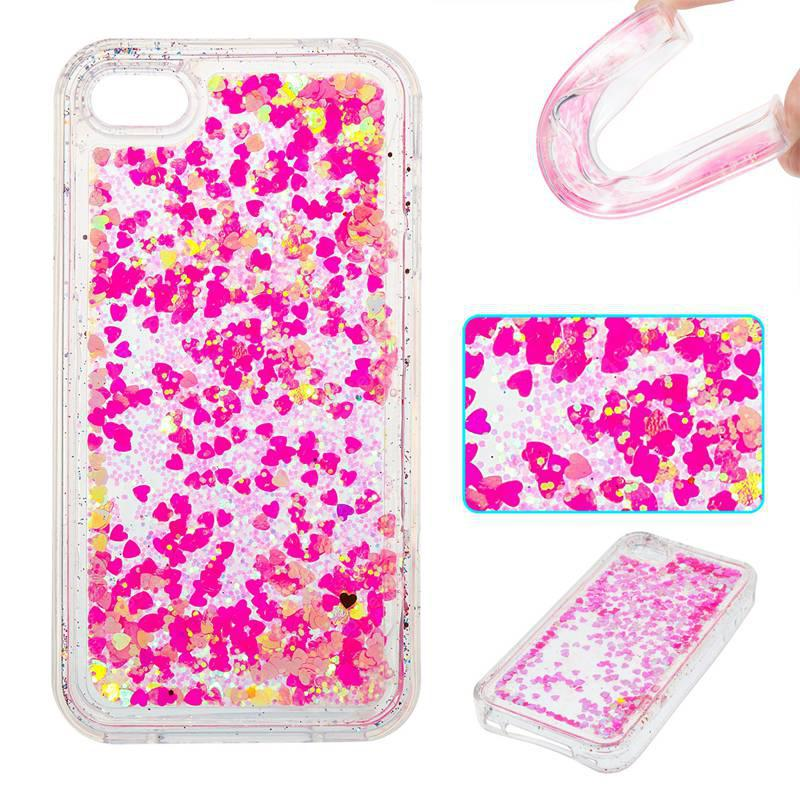 Full Powder Small Love All Soft Tpu Quicksand Phone Case pour Iphone 4 4S