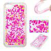 Full Powder Small Love All Soft Tpu Quicksand Phone Case para Iphone 4 4S - COLORMIX