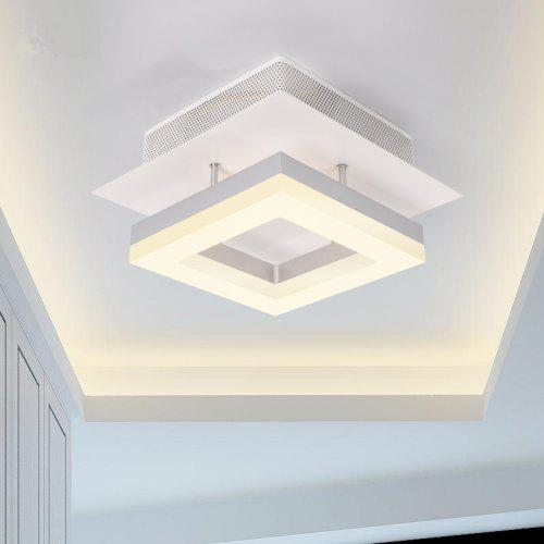 Ever Flower Modern Simple Led Ceiling Light Fixture Mount With Warm White Painted Finish