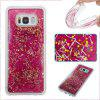 Rose Red Grass All Soft Tpu Quicksand étui pour téléphone Samsung Galaxy S8 Plus - ROUGE ROSE