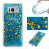 Blue Sand Gold Heart All Soft Tpu Quicksand étui pour Samsung Galaxy S8 Plus - MULTICOLORE
