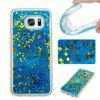 All Soft Tpu Quicksand Phone Case for Samsung Galaxy S7 Edge - BLUE AND GOLDEN