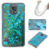 Solid Color Tpu Quicksand Phone Case for Samsung Galaxy S5 - BLUE