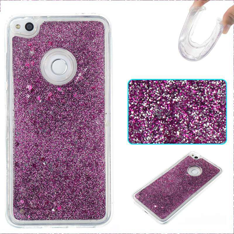 Pure Color Tpu Quicksand Phone Case for Huawei P8 Lite 2017