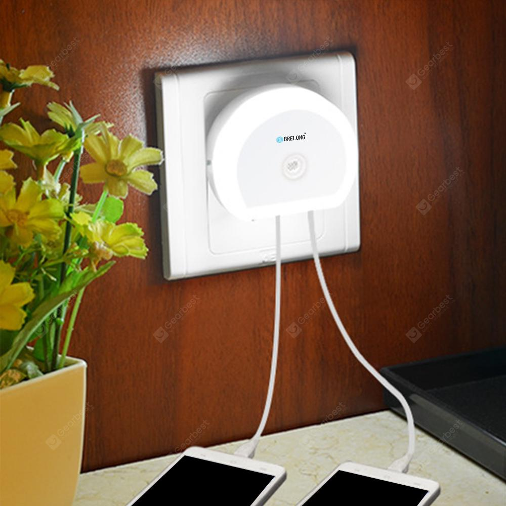 Brelong Creative Dual USB Charger / Night Light | Gearbest