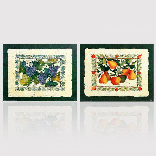 Hx-Art No Frame Canvas Two Sets of Painting Fruit Decorating The ...