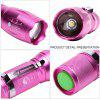 U`King ZQ - X1017 Flashlight Zoomable Torch Set - ROSE RED