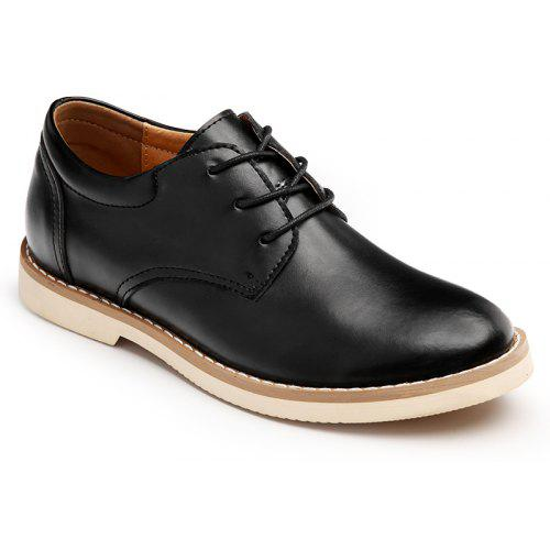 Analytical Men Dress Shoes Leather Office Business Wedding Shoes Lace Up Flats Vintage Brush Color Pointed Toe Formal Mens Oxfords Casual Shoes Formal Shoes
