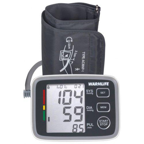 Warmlife Automatic Digital Upper Arm Blood Pressure Monitor with Cuff Fda Approved (White with Black Face)