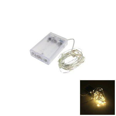 2M 20-LED Silver Wire Strip Light Battery Operated 1PC