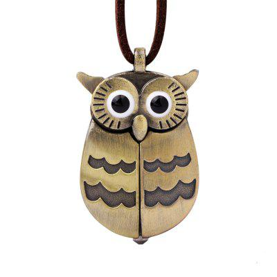 Cute Owl Pocket Watch